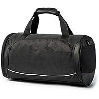 ZM Portable Gran Capacidad Hombre Bolso Bolsa Gimnasio Bolsa Oxford Mochila Fitness Bolsa de Viaje,Black