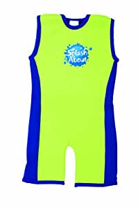 Splash About Kids Combie Wetsuit - 4-6 Years, Lime/Royal Blue