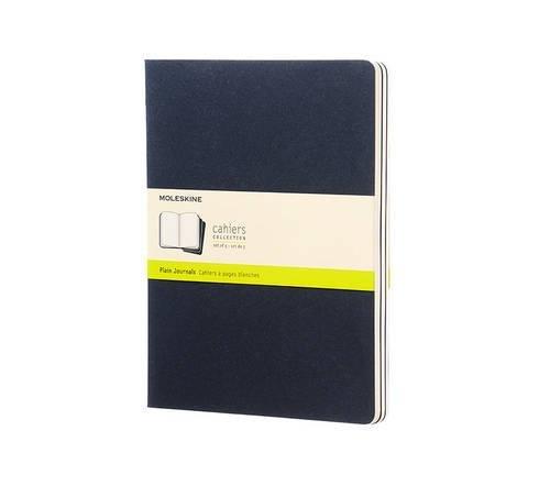 Moleskine CH223 - Pack de 3 cuadernos, XL 19 x 25, color azul por Moleskine
