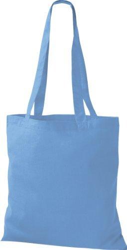 ShirtInStyle Premium Stoffbeutel Baumwolltasche Beutel Shopper Umhängetasche viele Farbe surf blue