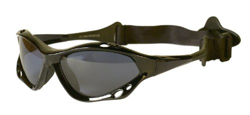 Waveshields Watersports Sunglasses Black Frame Smoke Lens