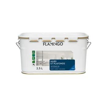 Flamingo 160910163000250 Peinture Acrylique Pour Murs/plafonds 2,5 L Blanc  Satin