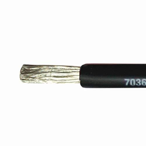 PowerMax 16mm² Marine Kabel einadrig verzinnt Stromkabel schwarz rot, Farbe:schwarz -