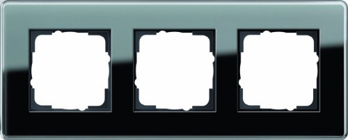 GIRA 0213505 Mascherina di copertura 3 moduli Esprit vetro C nero