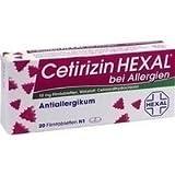 Cetirizin Hexal bei Allergien, 20 St. Filmtabletten
