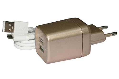 Hugo Xolo Q2500 Compatible Mobile Charger 2.1 AMP 2 USB Port with Cable  available at amazon for Rs.369