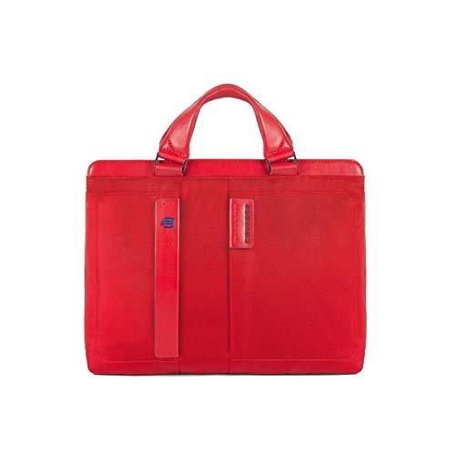 Piquadro Borsa porta PC e porta iPad dotata di dispositivo CONNEQU Rosso