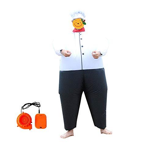 Aufblasbarer Clown Kind Kostüm - Aufblasbare Kostüm Erwachsene Kinder Chef Clown Big Fat Kleider Party Aufblasbare Charakter Karneval Lustige Cosplay Kleidung