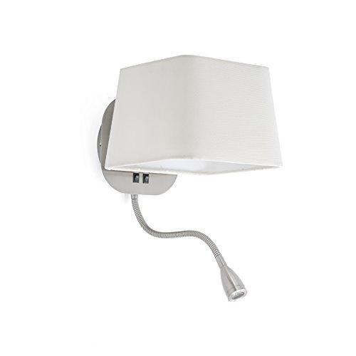 Faro Barcelona Sweet 29935 - Aplique LED, metal y pantalla téxtil