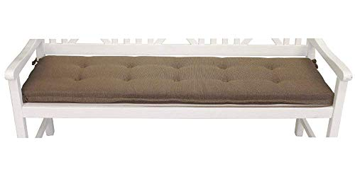 Bankauflage Polsterauflage 180x46 cm Polster Sitzpolster Auflage in braun