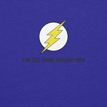 Planet Nerd - Flash Faster Than 18682 MPS - Herren T-Shirt Blau