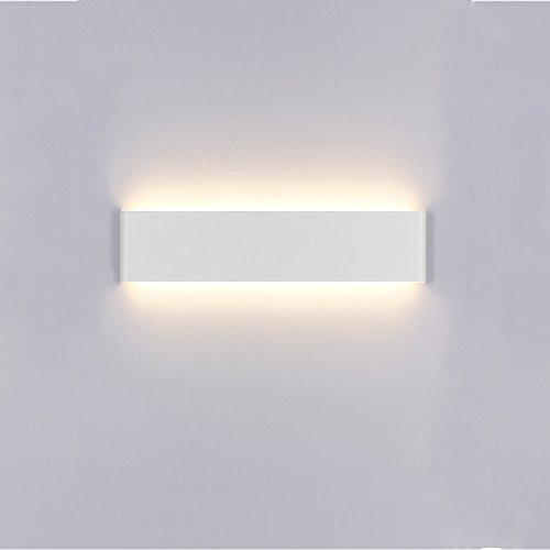 Foto de Liqoo Aplique Pared Interior LED Diseño Moderno Cómodo 14W Equivalente a 65W Blanco Cálido 3000k AC85-265V Decoración para Salon Pasillo Escalera Dormitorio Baño No Regulable Longitud 40cm