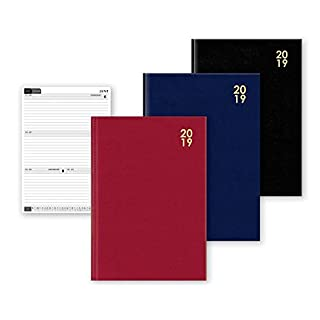 ALANNAHS ACCESSORIES Deluxe Hardback Diary Week To View Planner Organiser 2019 A5 -A5 -Navy
