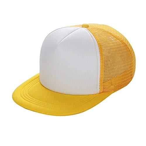 Likecrazy Baseball Cap mit Mesh Unisex Blank Visor Einstellbar Hat Herren Damen Mode Snapback Schiebermütze Breathable Nettokappe Sport und Reisen Basecap