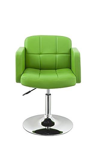 Clubsessel Sessel Kunstleder Grün Esszimmerstuhl Lounge Sessel höhenverstellbar drehbar Duhome