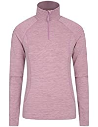 Mountain Warehouse Bend & Stretch Womens Midlayer Jacket - Half Zip, Long Sleeve Pullover, Wicking Sweatshirt, Warm Ladies Coat - for Spring Travel, Camping, Hiking