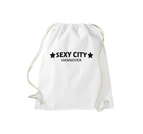 Turnbeutel Sexy City Hannover Dein Stadtbeutel Gymsack Kultsack Weiß