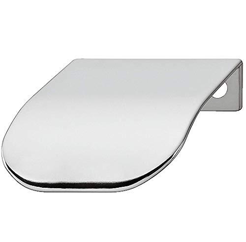Gedotec Kantengriff für Kleiderschrank Möbel-Griff für Sideboard Schrankgriff für Vitrine - H1839 | 44 x 46 x BA 32 mm | Stahl verchromt poliert | 1 Stück