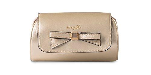 In a Pikle Relish Geldbörsen-Organizer mit Innentaschen und passendem Armband, Gold (gold), Large -
