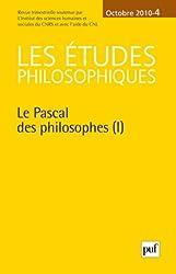 Les études philosophiques, N° 4, Octobre 2010 : Le Pascal des philosophes (1)