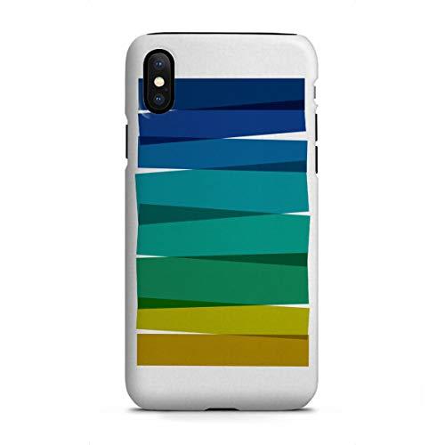 artboxONE Apple iPhone X Tough-Case Handyhülle Colorful Stripes Painting I von Orara Studio - Ocean Beach Stripe