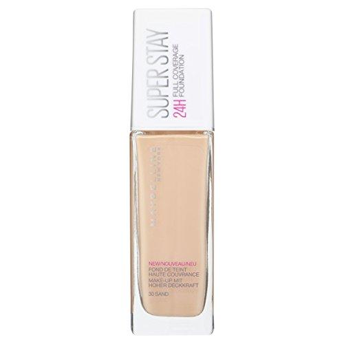 Maybelline Base de Maquillaje Superstay 24H Cobertura Total, Tono 30 Sable