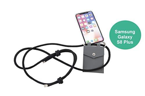 phonecover lover für Samsung Galaxy S8 Plus - Handy-Kette für Smartphones mit Tasche als Kartenetui f. Kleingeld - Stabile Handyhülle zum Umhängen für Samsung - Smartphone Necklace