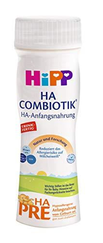 Hipp Milchnahrung Pre HA Combiotik trinkfertig, 6er Pack (6 x 200 ml)