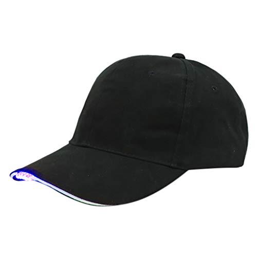 Xinantime Baseball Caps mit 5-LED Lichter Verstellbar Baumwolle Cap für Outdoor Travel Angeln für Männer Frauen LED Taschenlampe Cap Gurt-Hut für Fischerei Camping-Wandern Bergsonnenhüte
