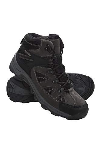 Mountain Warehouse Mountain Warehouse Rapid Wasserfeste Stiefel für Damen - Wanderschuhe aus Wildleder und Netzstoff, Schuhe, Wanderstiefel mit Gummilaufsohle - Für Reisen, Camping Schwarz 37 EU