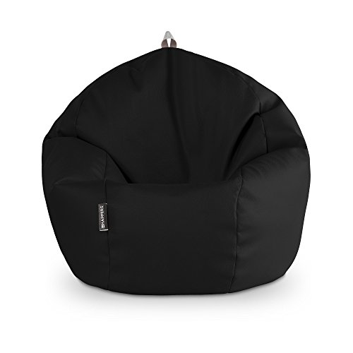 HAPPERS Puff Pelota Polipiel Outdoor Negro