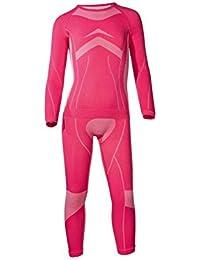 CRIVIT® SPORTS Kinder Mädchen Skiunterwäsche, 2-teilig (Pink, 146-152)