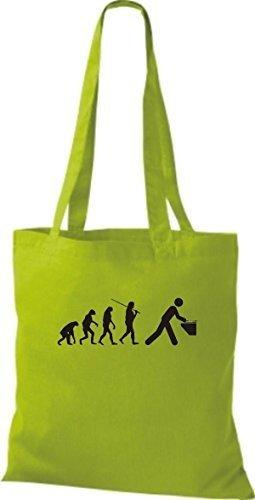 ShirtInStyle Stoffbeutel Jute Evolution DeeJay DJ diverse Farbe lime green