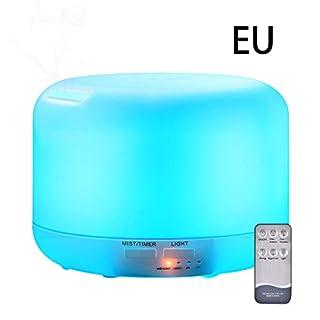 Wanfor 300ml ätherisches Öl Diffusor, feiner Nebelluftbefeuchter, Aromatherapie-Fernsteuerungsnachtlicht, 7 LED-Lichtfarben, Haushaltsraum-Dekor-Autozubehör