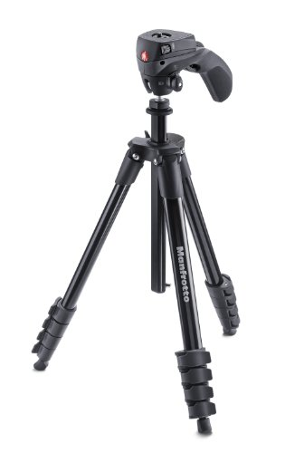 Manfrotto MKCOMPACTACN-BK Treppiede con Borsa, Testa Ibrida per Fotografia e Video, 5...