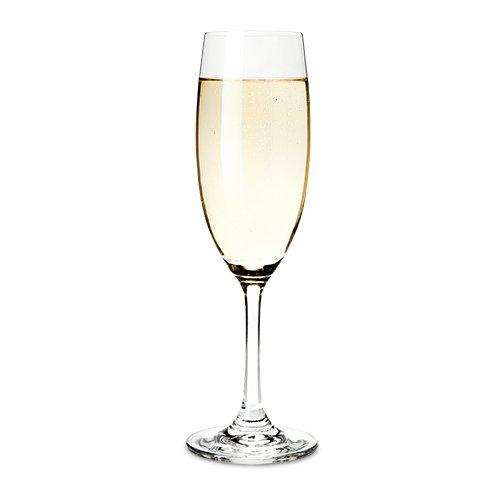 True Cuvee Champagner Flöten (transparent), 4Stück rosé, Prosecco Gläser