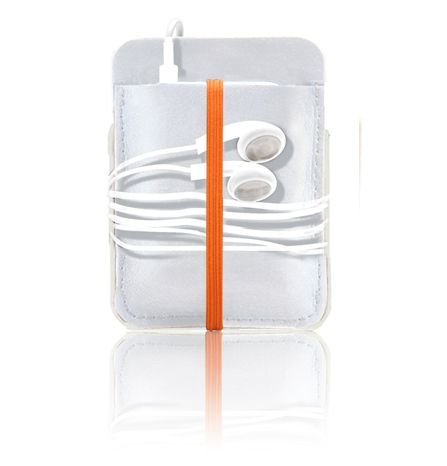 ipod nano (3rd Generation) sleeve leder weiss - orange