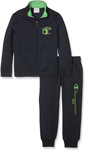 champion-bambino-tuta-auth-light-fleece-back-blu-verde-m-304402-f16