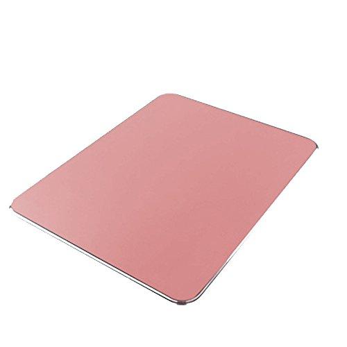 MUTANG Aluminium Gaming Mouse Pad mit Rutschfestem Gummi Base & Matt Oberfläche Mäuse Matte Multi-Color Optional (Farbe : Pink)