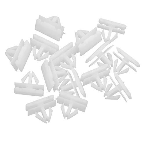 sourcing map Clips Rivets Poussoir Plastique r/étenteur Pare-Choc 20 pi/èces