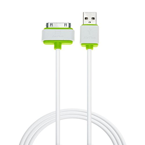 AirPlus USB-Link Cable with 4 ft / 1.2 mtr) 30-pin to USB Sync and Charge Cable (Apple MFi Certified) for iPhone 4s, iPhone 4, iPhone 3GS, iPhone 3G, iPad (3rd-Gen), iPad 2, iPad 1, iPod touch (1st to 4th Gen), iPod Classic, and iPod nano (1st to 6th Gen)-[WHITE]