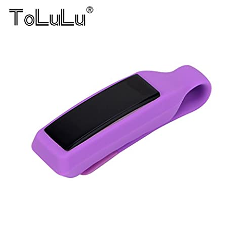 For Fitbit Alta Fitness Tracker!Colorful Replacement Silicon Clip Cover Holder For Fitbit Alta Candy Color TPU Replacement Belt Bra Clip Clasp Cover Holder -Purple
