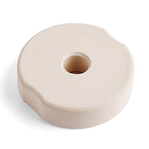 SOFTCOREFOOD Beschwerungsstein 8 cm/für Bügelglas/Sauerkraut herstellen/Fermentieren (Beige, Keramik) (Keramik-gewichte)