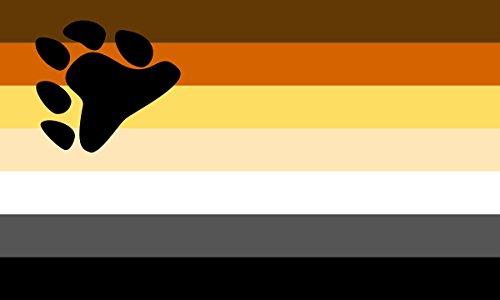Bear Pride Flagge aus SoCal Flaggen 3x 5Fuß Polyester Rainbow Banner-Verkauft von A Proud American Company-Langlebig 100D Material Nicht Sehen durch Wie Andere Marken Wetter Beständig -