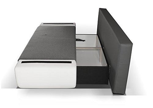 3er Sofa Hector mit Staukasten und Bettfunktion - Abmessungen: 204 x 90 cm (B x T) - 3