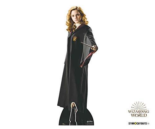 Star Cutouts aus dem Offiziellen Harry Potter Bücher lebensgroß Karton Hermine Granger (Emma Watson) Hogwarts School of Witchcraft and Wizardry Uniform 163 cm hoch, Mehrfarbig, 163 x 55 x 163 cm