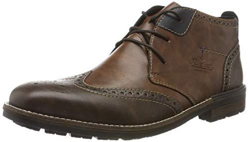Rieker Herren B1343 Klassische Stiefel, Braun (Toffee/Wood/Ozean 25), 43 EU