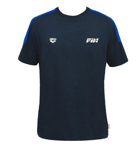 Arena T-SHIRT FIN II T-shirt  Unisex adulto, Collezione Italia per la Federazione Italiana Nuoto (FIN), Blu, S