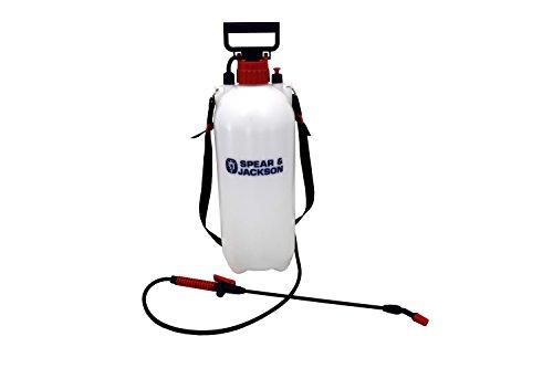 PS Pumpdrucksprüher 8 L, Weißer Körper, schwarze Düse und Schultergurt mit rotem Schraubverschluss, 50.6 x 18 x 18 cm ()