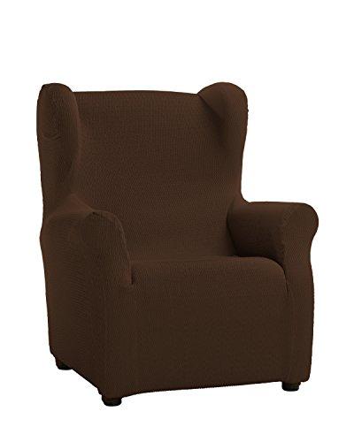 Schutzhülle aus elastischem Sessel Modell Tunez Bezug für Ohrensessel 33x42x8 cm braun